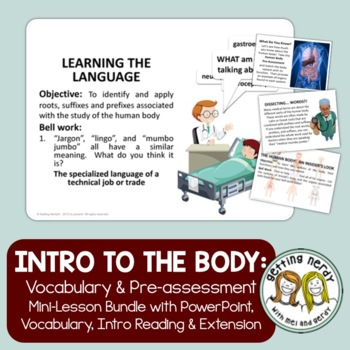 Human Body Introduction By Getting Nerdy With Mel And Gerdy Tpt