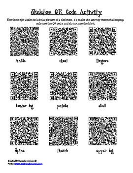 Human Body QR Code Activity