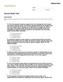 Human Body Test/Quiz