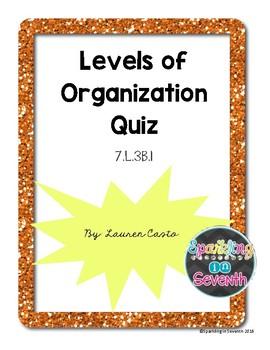 Human Body Quiz: Levels of Organization