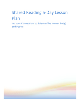 Human Body Shared Reading 5 Day Lesson Plan