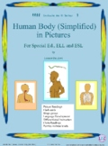 Human Body (Simplified)  in Pictures for Special Ed., ELL