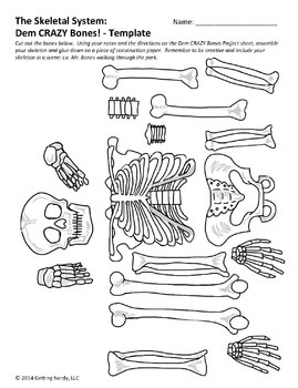 Adaptable image with regard to printable human skeleton to assemble