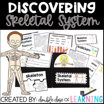 Human Body: Skeletal System Research Unit with PowerPoint