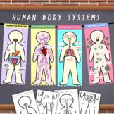 Human Body System Model Flag [Science+Arts]