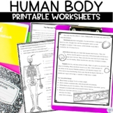 Human Body System Nonfiction Articles and Activities BUNDLE