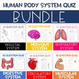 Human Body System Quiz BUNDLE