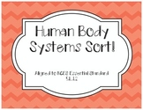 Human Body System Sort Activity- North Carolina NCES Aligned!