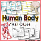 Human Body Systems Task Cards: 2 Sets for Differentiated Learning + Bonus Cards