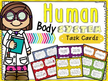 Human Body System Task Cards: 5.L.1.2 *Bonus Matching Game*