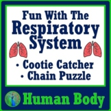 Human Body Systems Respiratory System Activity 2 Games NGSS MS-LS1-3