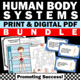 Human Body Systems Foldable Science Interactive Notebooks BUNDLE