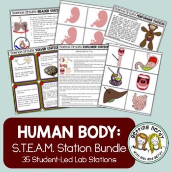 Human Body Systems Bundle - Science Centers / Lab Stations