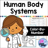 Human Body Systems: Color-By-Number