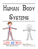 Human Body Systems Color and Write Pack