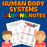 Human Body Systems Coloring Notes