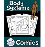 Human Body Systems Comics - Non-Fiction Writing Activity