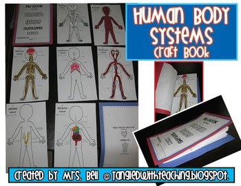 Human Body Systems Craft Book