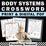 Human Body Systems Middle School Science Vocabulary Crossword Puzzle Digital