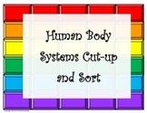 Human Body Organ Systems Cut-up and Sort (editable)