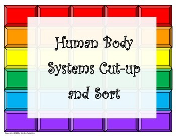 Human Body Organ Systems Cut-up and Sort (editable)