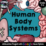 Human Body Systems Digital Interactive for Google Drive and Google Classroom