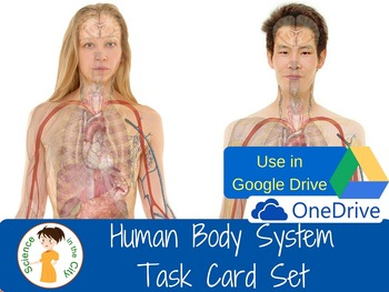 Human Body Systems Digital Task Cards for Google Apps/One Drive