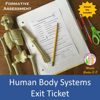Human Body Systems Exit Slip