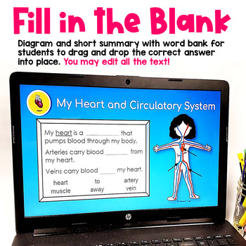Human Body Systems Flip Book for Google Classroom and Google Drive