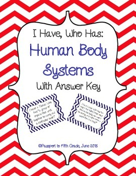 Human Body Systems I Have Who Has Review Game