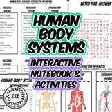 Human Body Systems Interactive Notebook, Health Anatomy Activities Worksheets