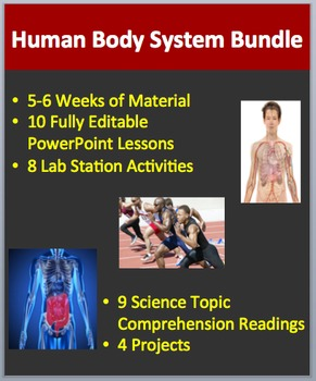 Human Body Systems - Lessons, Lab Stations, Readings, Projects and Activities