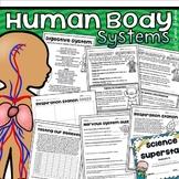 Human Body Systems (Lyric Sheets, Worksheets, Activities,