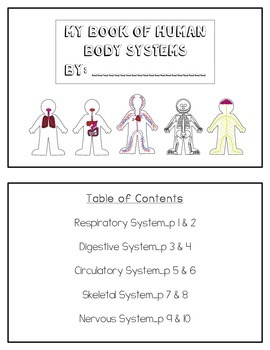 Human Body Systems Mini Book