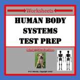 Human Body Systems Multiple Choice Worksheets (5 Worksheets for Test Prep)