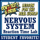 Human Body Systems - Nervous System Reaction Time Lab (middle school) MS-LS1-3