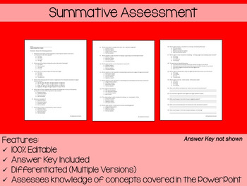 Human Body Systems Overview PowerPoint, Notes & Exam (Differentiated & Editable)