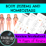 Human Body Systems Review Worksheet