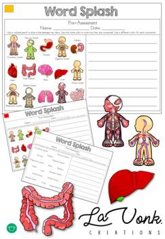 Human Body & Systems Pre / Post Assessment - Word Splash