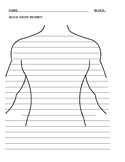 Human Body Systems Quick Write Template