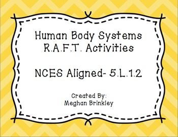 Human Body Systems RAFT Activities-NCES Aligned!