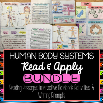 Human Body Systems Reading Comprehension Interactive Noteb