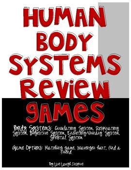 Human Body Systems Review Game