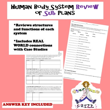 Human Body Systems Review or Sub Plans