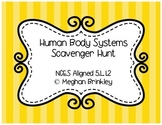 Human Body Systems Scavenger Hunt- NCES Aligned