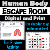 Human Body Systems Activity: Biology Escape Room Science