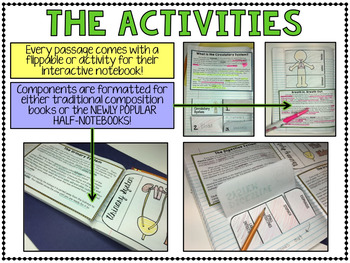 Human Body Systems - Science Interactive Notebook with Close Reading Passages