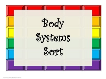 Human Body Organs Systems Sort