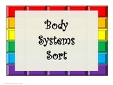 Human Body Organs Systems Sort