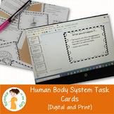 Human Body Systems Review Task Cards (Digital and PDF)